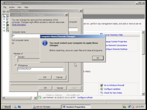 Install Active Directory on Server 2008
