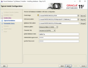 Oracle 11g installation - 3